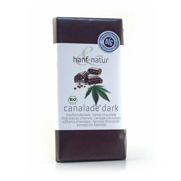 Organic dark chocolate with hemp seeds