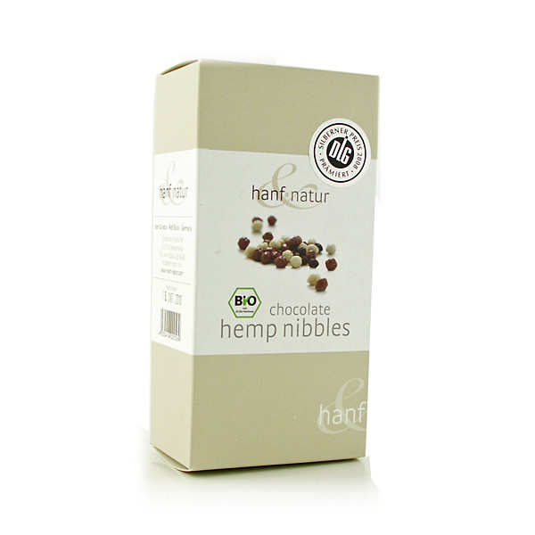 Organic chocolate hemp nibbles