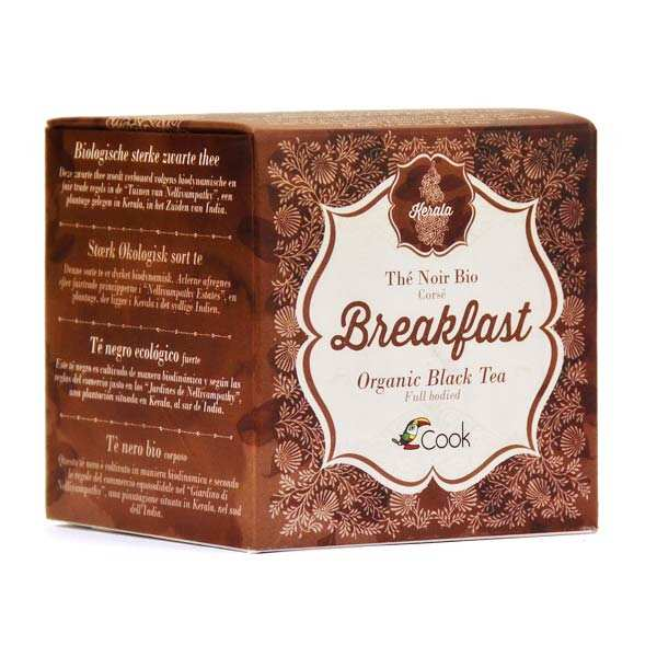 Thé noir Breakfast bio du Kerala (inde) 15 sachets