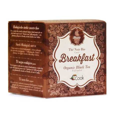 Cook - Herbier de France - Thé noir Breakfast bio du Kerala (inde) 15 sachets