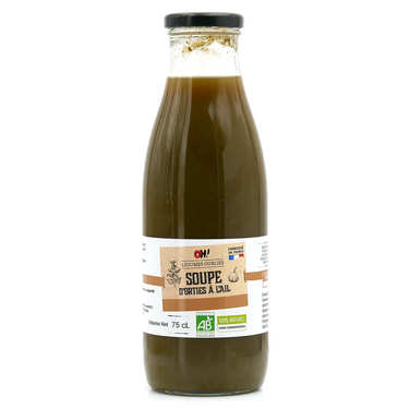 Organic wild nettle soup bottle
