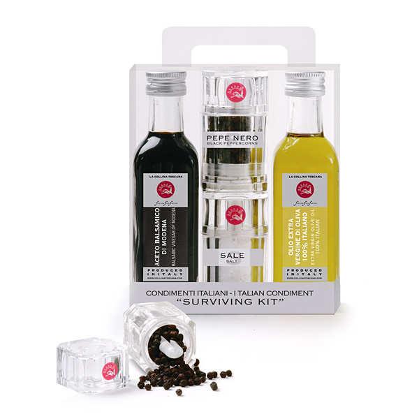 Ensemble d 39 assaisonnement italien sel poivre huile - Desherbant vinaigre blanc sel ...