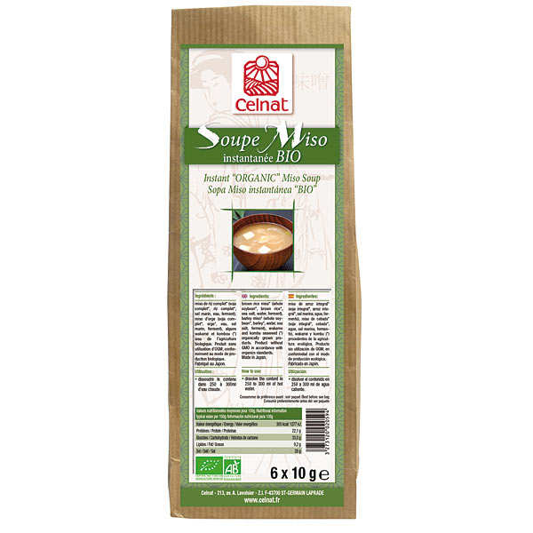 Organic instant miso soup