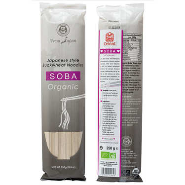 Organic japanese Soba noodles bag