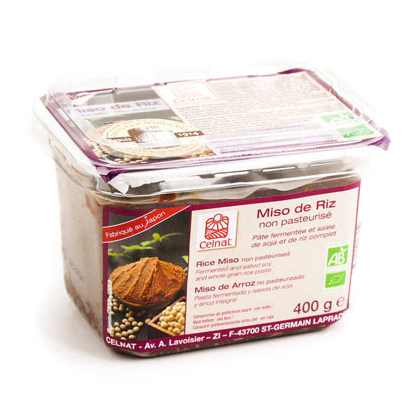 Organic, non-pasteurised rice miso paste