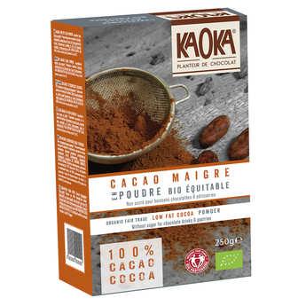Kaoka - Cacao en poudre dégraissé non sucré bio équitable