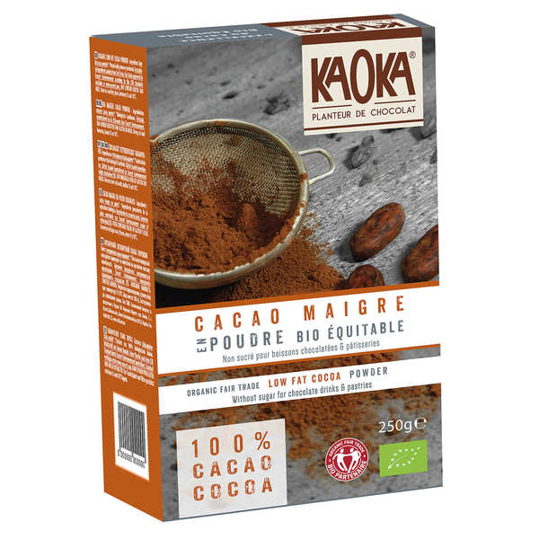Cacao en poudre dégraissé non sucré bio équitable