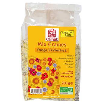 Celnat - Mix graines bio - Oméga 3 & vitamine E