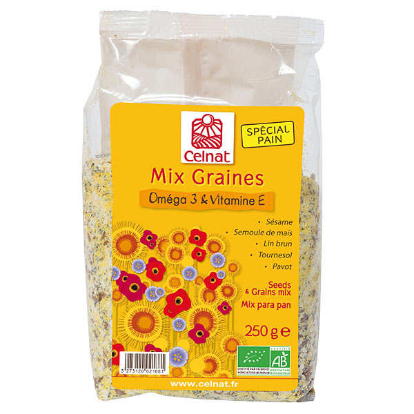 Mix graines bio - Oméga 3 & vitamine E