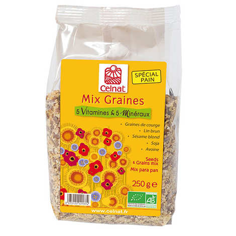 Celnat - Mix graines bio - 5 vitamines & 5 minéraux