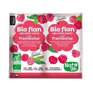 Nat-Ali - Bio-flan non sucré parfum framboise