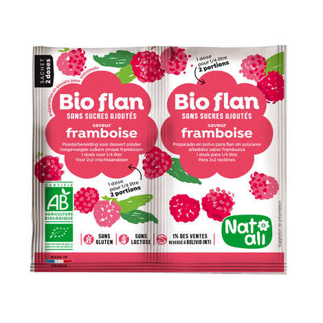 Nat-Ali - Organic sugarfree raspberry flan mix