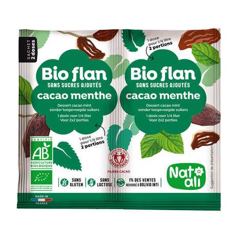 Nat-Ali - Bio-flan parfum chocolat/menthe sans sucres ajoutés