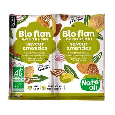 Bio-flan non sucré parfum amandes