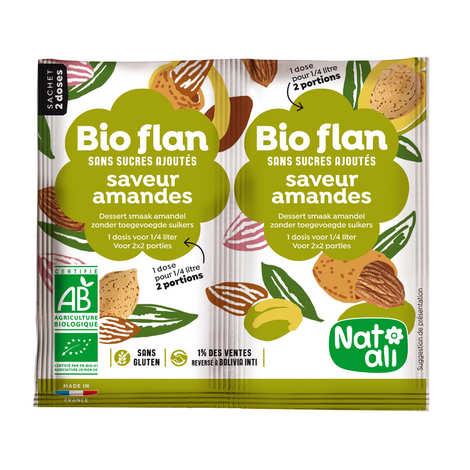 Nat-Ali - Bio Flan parfum amandes sans sucres ajoutés
