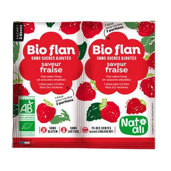 Nat-Ali - Bio-flan non sucré parfum fraise