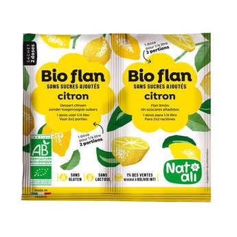 Nat-Ali - Bio-flan non sucré parfumé - citron