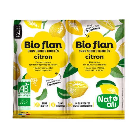 Nat-Ali - Bio Flan parfum citron sans sucres ajoutés