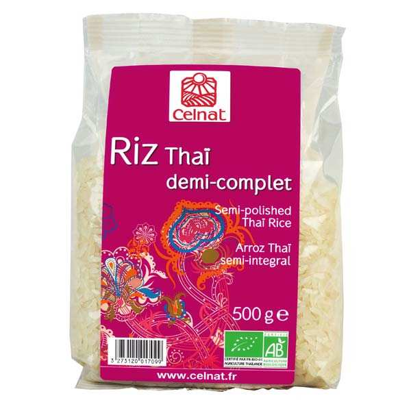 Organic semi-polished Thai rice