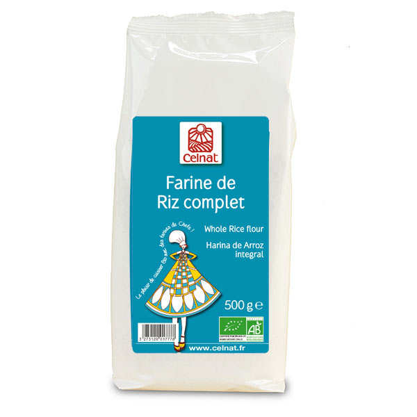 Organic wholegrain rice flour