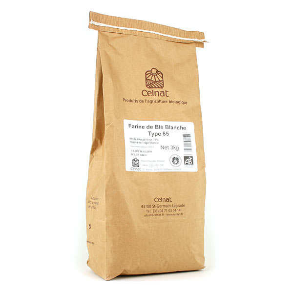 Organic type 65 white wheat flour