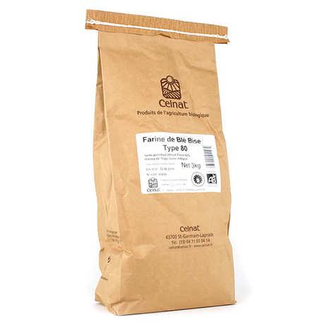 Celnat - Farine de blé bise bio type 80