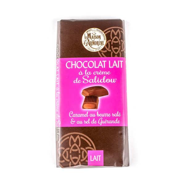 Chocolat au lait fourré à la crème de caramel au beurre salé (Salidou)