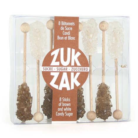 Zuk-Zak - Bâtonnets de sucre Candi brun et blanc