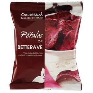 Croustisud - Unsalted organic beetroot chips