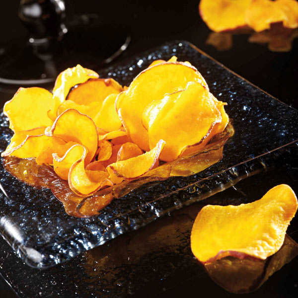 Unsalted organic sweet potato chips