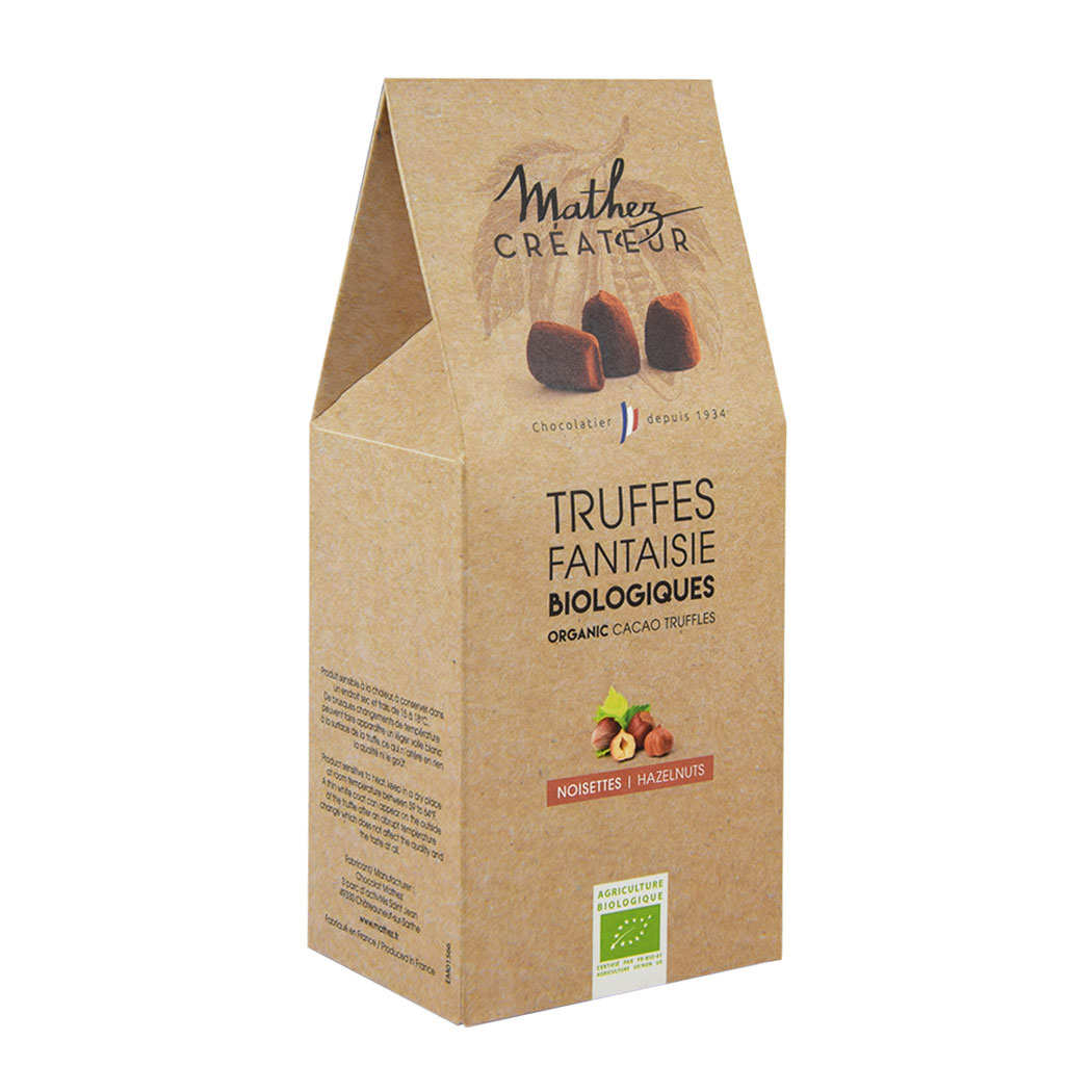 Organic Chocolate Truffles with Hazelnuts