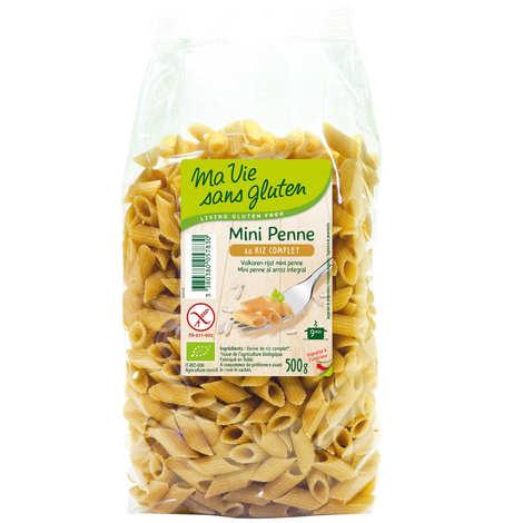 Ma vie sans gluten - Mini penne au riz complet - pâtes bio certifiées sans gluten
