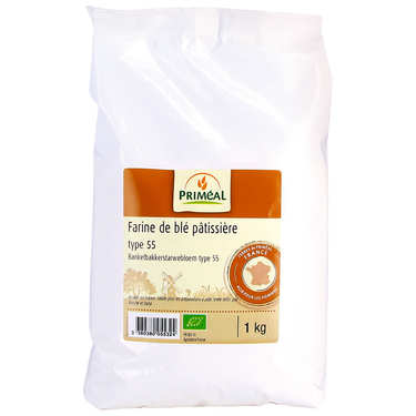 Organic T55 wheat flour for patisserie