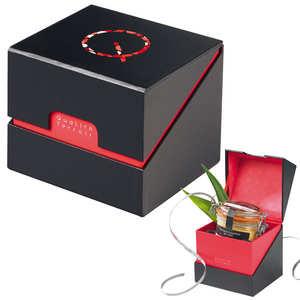 - Coffret Ecrin coloris noir/rouge