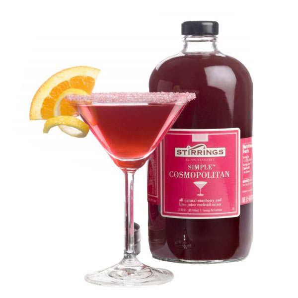Pr paration pour cocktail cosmopolitan stirrings for Cocktail preparation