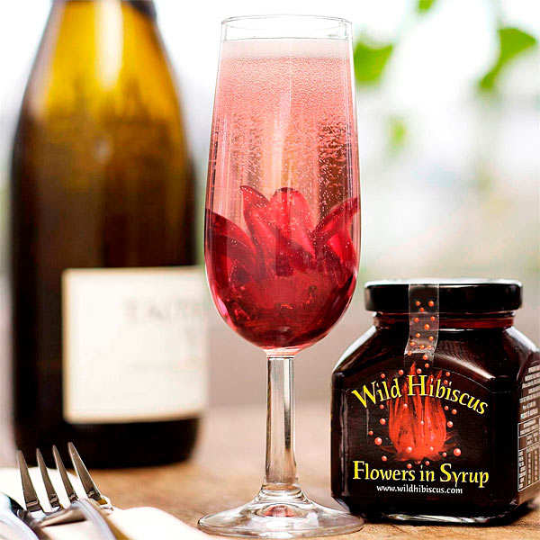 Wild Hibiscus Flowers In Syrup The Wild Flower Company