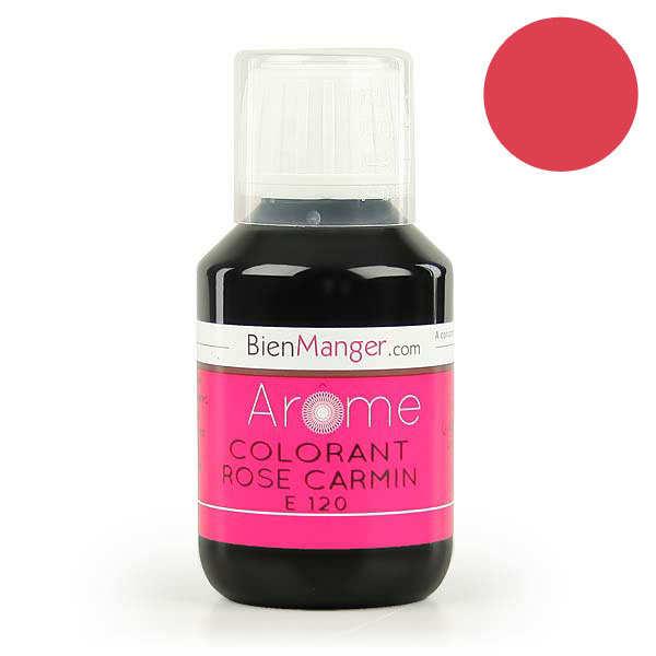 Colorant alimentaire rose carmin E120