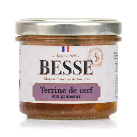 Foie gras GA BESSE - Terrine de cerf aux pruneaux