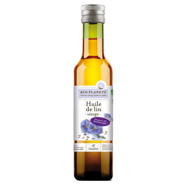 Organic very soft virgin flax oil