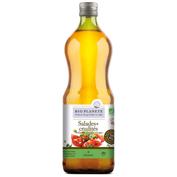 Organic rapeseed, sunflower and olive oil for salads