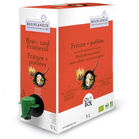 BioPlanète - Huile de tournesol désodorisée bio spéciale cuisson en Bag in Box