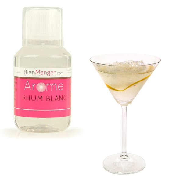 Arôme alimentaire de rhum blanc - flacon doseur 115ml