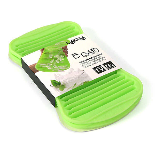 Silicone ice-cube tray for crushed ice