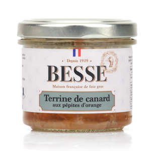 Foie gras GA BESSE - Duck Terrine with Orange Pieces