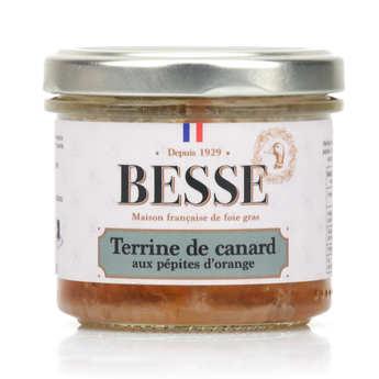 Foie gras GA BESSE - Terrine de canard aux pépites d'orange