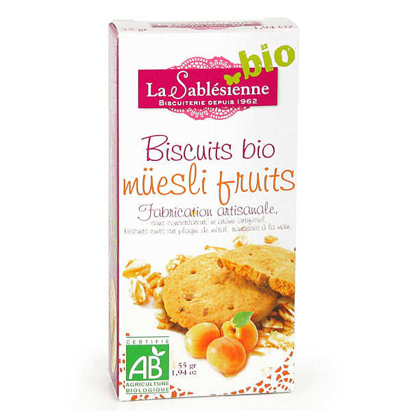 Biscuits bio müesli fruits
