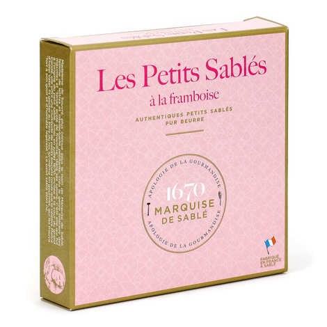 Biscuiterie La Sablésienne - Pure butter French shortbread with raspberries