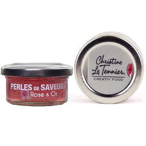 Christine Le Tennier - Perles de saveur à la rose scintillantes or