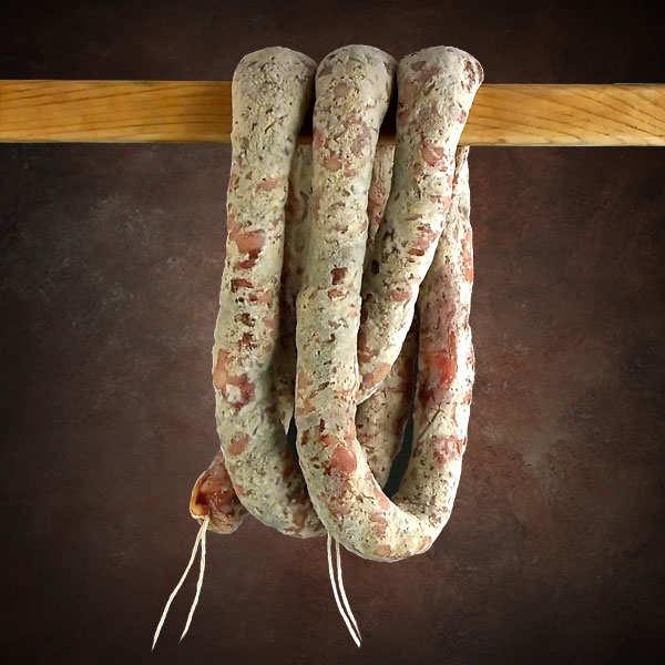 Saucisse sèche au roquefort de Lozère