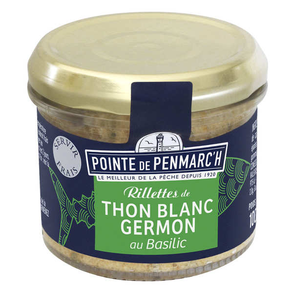 Tuna rillette with basil